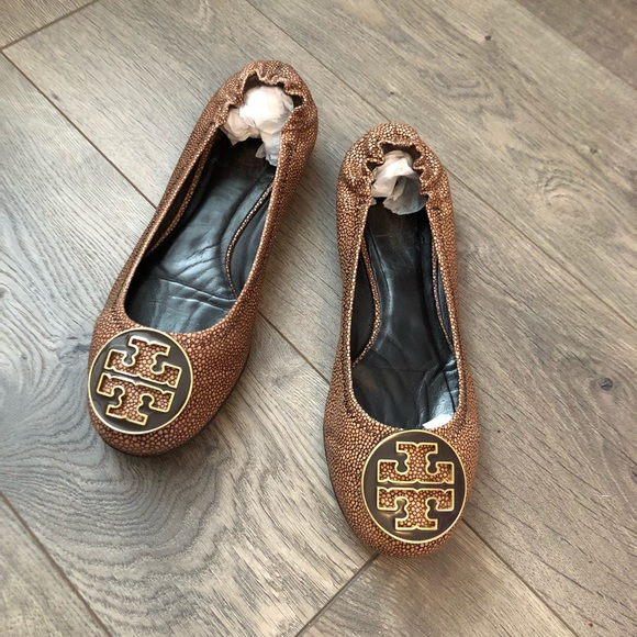 996eb22d9e9 Tory Burch Shoes - Tory Burch Reva Flats in Stingray Coconut Leather
